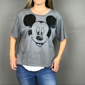 Disney Parks Mickey Mouse Black & Gray tee